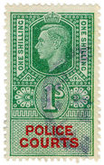 (I.B) George VI Revenue : Police Courts 1/- - 1902-1951 (Koningen)