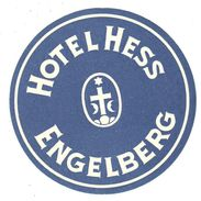 ,ETIQUETA DE HOTEL  - HOTEL HESS  - ENGELBERG  -SUIZA - Etiquetas De Hotel