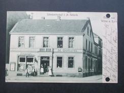 AK 1914 Schenkwirtschaft V. M. Gerhards. Gruss Aus Witten An Der Ruhr. Briefkasten/Friseur. C. Schrick, Witten A.d. Ruhr - Hotels & Gaststätten