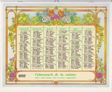L Almanach De La Cuisine OBERTHUR 1988 LA POSTE - Big : 1981-90