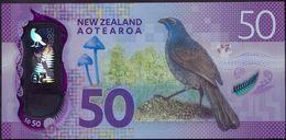 New Zealand 50 Dollars 2016 UNC Polymer P-194 - New Zealand