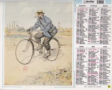 Calendrier  OBERTHUR 1988 L'almanach Malin - Big : 1981-90