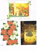 ITALIA    -  BUON  NATALE E BUON ANNO   (MERRY CHRISTMAS AND HAPPY NEW YEAR),     LOT OF 3 - MINT - New Year