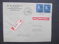 BRIEF Bruxelles - Steinschönau 1938  ////  D*28304 - Belgien