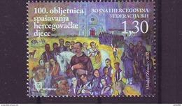 BiH HP Mostar 2017 Y 100th Ann Of Rescuing Children Of Herzegovina MNH - Bosnia And Herzegovina