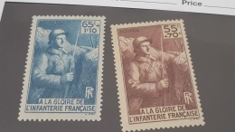 LOT 374572 TIMBRE DE FRANCE NEUF** N°386/387 VALEUR 17 EUROS - Unused Stamps