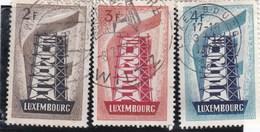 Luxembourg N° 514 à 516 Obl EUROPA De 1956 - Luxembourg