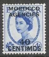 Morocco Agencies (Spanish Currency). 1954-55 QEII. 10c MH. Tudor Crown W/M SG 188 - Postämter In Marokko/Tanger (...-1958)