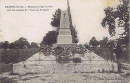 """72 - Changé (Sarthe) - Monument érigé En 1910 Sous Les Auspices Du """"Souvenir Français"""" - Otros Municipios"""
