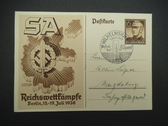 DR, Postkarte, 15.-17.Juli1938 - Weltkrieg 1939-45