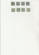COLONIES FRANCAISES - AIGLE IMPERIAL-N° 1 ET 2  -4 EXEMPLAIRES DE CHAQUE - 2 EME CHOIX -COTE : 200 € - Águila Imperial