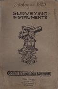 Catalogue Geomètre Arpenteur Mesure Theodolite Boussole Baromètre Compas Cooke Troughton Simms Dratz Bruxelles - Vecchi Documenti