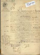VP11.468 CORMEILLES - Acte De 1859 - Entre Mrs MALLET Maire De CORMEILLES & Mme BORDEAUX à PONT L'EVEQUE Vente De Terre - Manuskripte