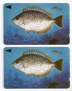 Bahrain - Streaked Rabbitfish Fish Of Bahrain - 2 Variations 39BAHQ (O-Ø), - 1996, Used - Bahrain