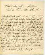VON NAHMEN, H.C.(?). Major In Einem Kavallerieregiment. – Brief An Einen Rittmeister. DÜLMEN, 26. Januar 1757 Dinc - Documents Historiques