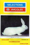 SELECTIONS AVICOLES AVICULTURE COLOMBICULTURE CUNICULTURE NOVEMBRE 2001  No 404 - Animals