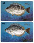 Bahrain - Streaked Rabbitfish Fish Of Bahrain - 2 Variations 40BAHG (O-Ø), - 1996, Used - Bahrain