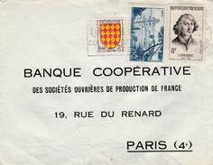 Sur Lettre, Yvert N°1003 Angoumois- 1038 Nice Et 1132 Nicolas Copernic - Marcofilia (sobres)