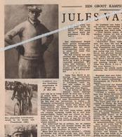 WIELERSPORT  ICHTEGEM...1935...JULES VAN HEVEL.GEBOREN TE COUCKELAERE OOSTROZEBEKE/ FOTO BRASSERIE AS DES AS OOSTENDE - Ohne Zuordnung
