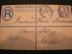 11 APRIL  1889  ..REGISTERED LETTER WITH POSTAGESTAMP OF 5 PENNY..  ....5 PENNY SI REGISTERED LETTER - Cartas