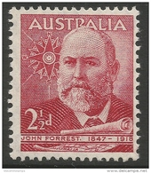 Australia. 1949 John, Lord Forrest Of Bunbury Commemoration. 2½d MNH. SG 233 - 1937-52 George VI
