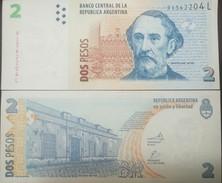 O) 2002 ARGENTINA. BANKNOTE 2 PESOS ARP, BATOLOME MITRE-MITRE HOUSE MUSEUM-ARCHITECTURE COLONIAL HOUSE 1785, PAPER MONEY - Argentine