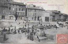 12)  DECAZEVILLE  - Place Decazes  (  Marché  ) - Decazeville
