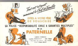 Buvard PATERNELLE La Police Responsabilité Civile à Garanties Multiples De La PATERNELLE Lucien RONDELET à Orléans - Bank & Insurance