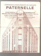 Buvard PATERNELLE Compagnies D'assurances Du Groupe PATERNELLE Sièges Sociaux 21, Rue De Châteudun PARIS - Bank & Insurance