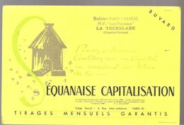 Buvard SEQUANAISE CAPITALISATIO N Madame Renée LAGARDE M.F. Les Roseaux à LA TREMBLADE (17) - Bank & Insurance