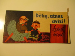 LATVIA , RIGA 1964 , COMICS POLICE TRAFFIC SAFETY , DOG DACHSHUND ,  BY ARTIST SENHOFS   , O - Comics (other Languages)