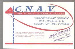 Buvard C.N.A.V. Trésorerie Générale Du Cher 3 Bis, Avenue Eugène Brisson à Bourges - Bank & Insurance