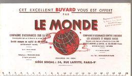 Buvard LE MONDE COMPAGNIE D'ASSURANCES SUR LA VIE - Bank & Insurance