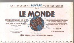 Buvard LE MONDE COMPAGNIE D'ASSURANCES CONTRE L'INCENDIE - Bank & Insurance