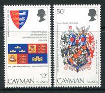 Cayman Islands 1974 Birth Centenary Of Sir Winston Churchill Set MNH (SG 380-81) - Iles Caïmans