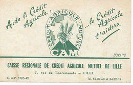 Buvard Crédit Agricole Mutuel, 7, Rue De Tenremonde Lille. - Bank & Insurance