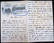 London Cannon Street Hotel 1906 Ostende Ritter Thress Lettre Vintage Letterhead écriture Plume Written Pen Courrier Hôte - Royaume-Uni