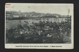 AZORES US NAVY WWI Postcard WORLD WAR I AÇORES ANTI SUBMARINE WARSHIPS PORTUGAL - Postcards