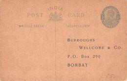 INDIA - POSTCARD QUARTER ANNA -NOT USED- - 1911-35 King George V