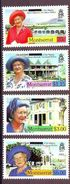 Montserrat - 2002 Elizabeth The Queen Mother Stamps Of 2000 Overprinted With Bar - 4 V. Mint ** - Montserrat