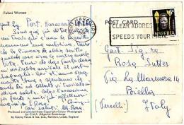 Nigeria, Benin Mask  Francobollo  Val 6 D  Su Cartolina Anni '60 - Nigeria (1961-...)