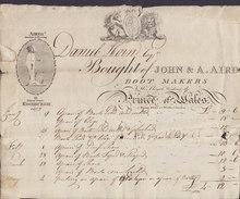 United Kingdom Scotland JOHN & A. AIRD Boot Makers 13 Princes Street, Edinburgh Invoice For DANIEL HORN Dated 1810 - Ver. Königreich