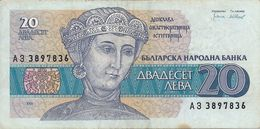 Banconota Da  20  LEV  BULGARIA -  Anno  1991. - Bulgaria
