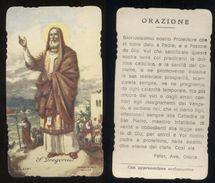 VECCHIO SANTINO - SAN GREGORIO - HOLY CARD - Santini