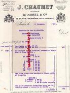 75-PARIS-NEW YORK-RARE FACTURE J. CHAUMET-DE MOREL-12 PLACE VENDOME- DUC DE BISACCIA CHATEAU D' ESLIMONT GALLARDON-1929 - Old Professions