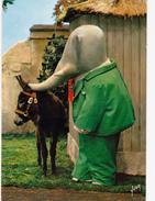 CPSM BABAR Eléphant Ane Baudet Donkey Emission Télévision O.R.T.F. De BRUNHOF - Elephants