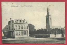 St-Gérard - Grand'Place Et Eglise - Hôtel-Quincallerie Fraipont - 1921 ( Voir Verso ) - Mettet