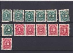 Scott Postage Due J29-J35 Mint, J36-J41 Mint    082 - Nicaragua