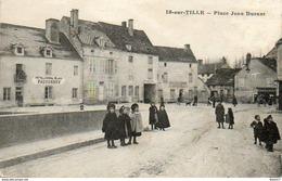CPA - IS-sur-TILLE (21) - Aspect De La Place Jean Durant Et De L'Hôtel Du Cheval Blanc En 1915 - Is Sur Tille