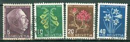 Suisse 1948 Yv&T 467/470 (o),  Mi 514/517 (o)   Cote Yv. € 9,50 - Suisse